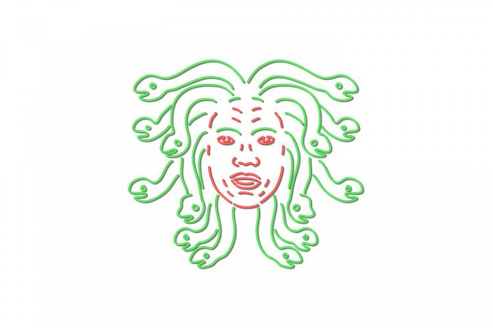 Head of Medusa Neon Sign