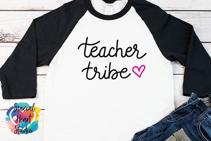 Teacher Tribe - A hand lettered teacher SVG