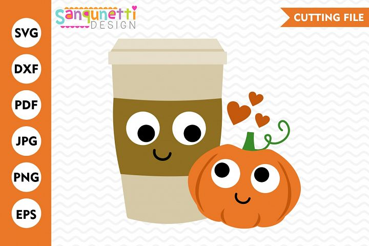 Pumpkin spice SVG, pumpkin svg, latte svg, coffee svg