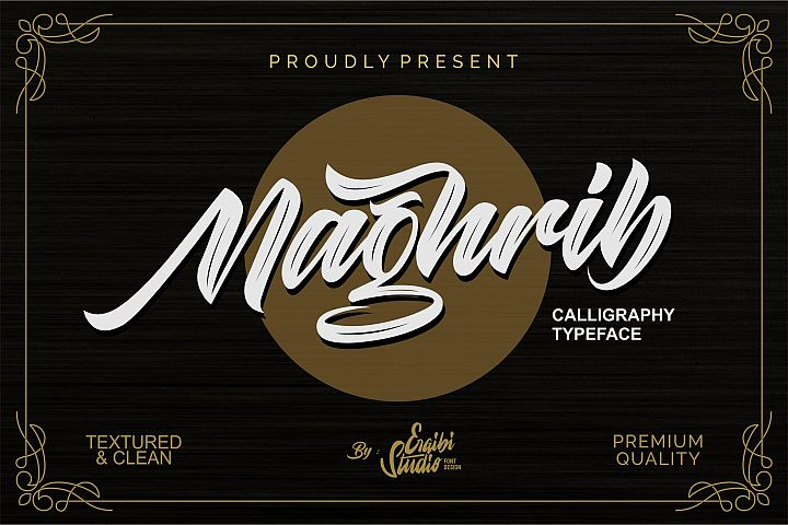 Maghrib - Calligraphy Typeface