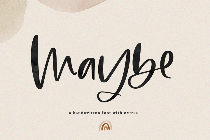 Maybe - Script Font with Doodles