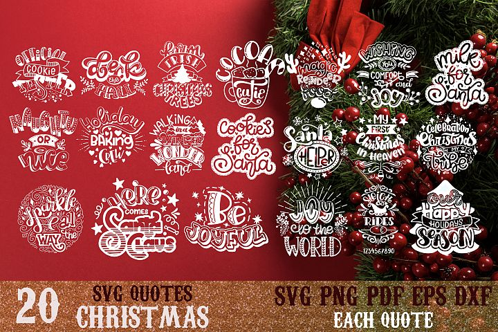 Christmas bundle svg Snowflakes svg Winter Santa quote vol 4