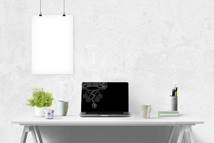 Computer mockup & desk mockup bundle - Free Design of The Week Design2