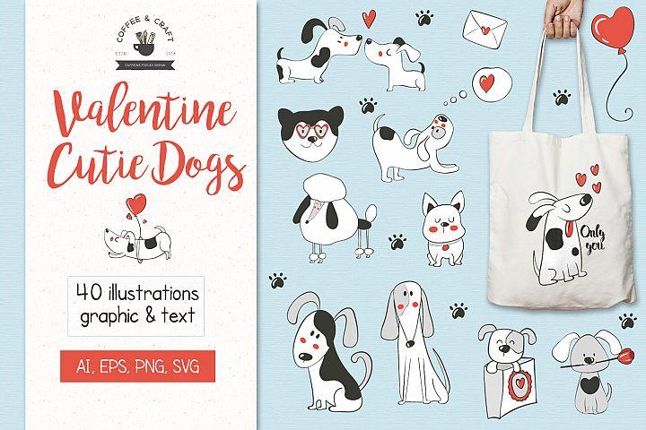 Valentine Cutie Dogs