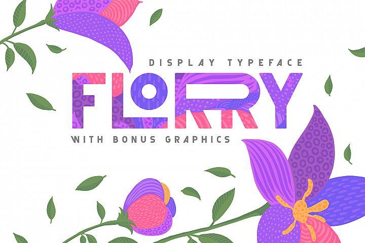 Florry font & illustrations