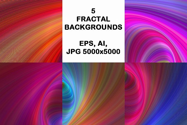 5 Abstract Backgrounds AI, EPS, JPG 5000x5000