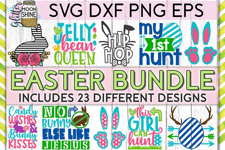 Easter Bundle of 23 SVG DXF PNG EPS Cutting Files