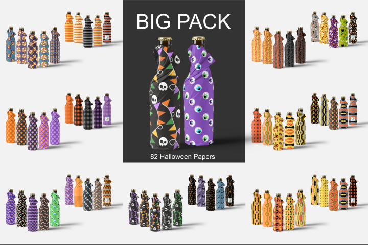 BIG Halloween Scrapbooking Pack - 82 Patterned Papers