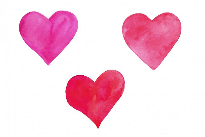 Valentine's Day set of watercolor example image 3