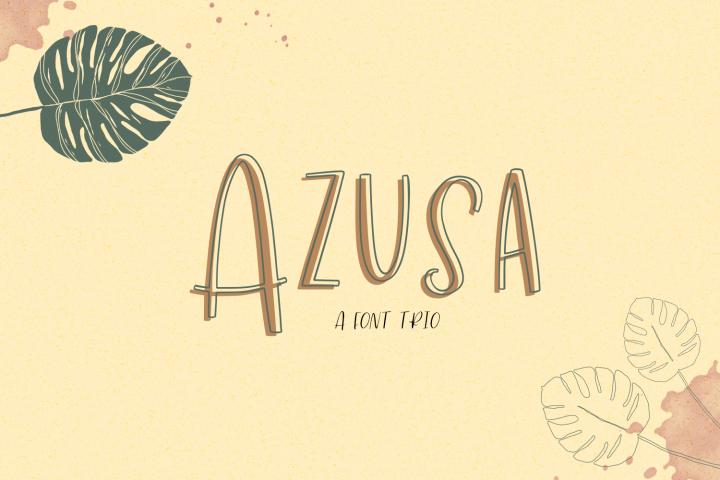 Azusa Sans Font Trio
