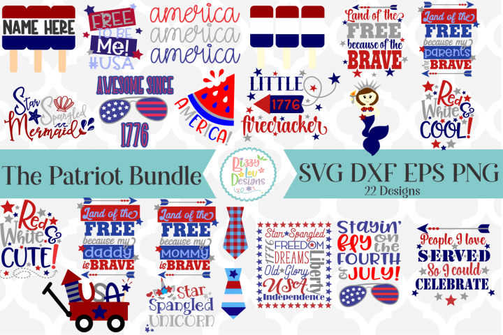 The Patriot Bundle SVG Cutting Files