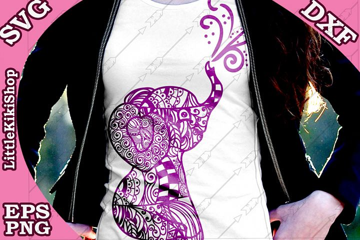 Baby Elephant Svg,Mandala Elephant Svg,Zentangle animal Sv