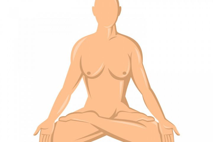 female human anatomy yoga lotus