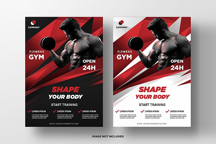 Fitness Flyer Template. Part 4
