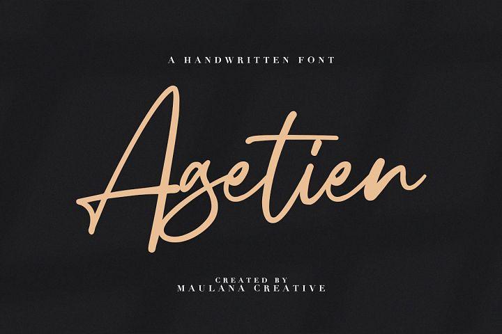 Agetien - Handwritten Font