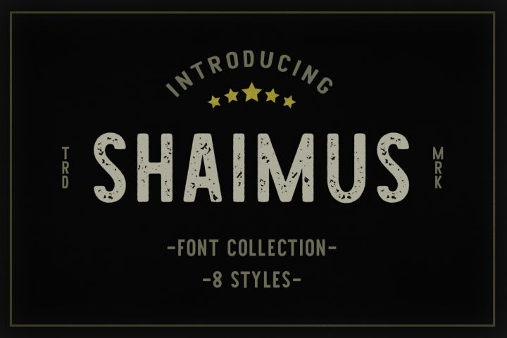 Shaimus Font Collection