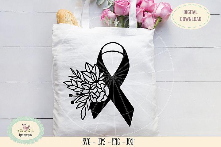 Awareness ribbon breast cancer SVG PNG hand drawn
