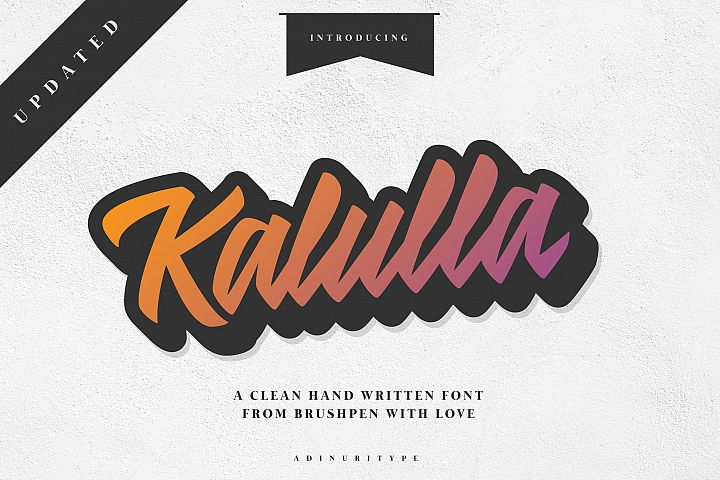 Kalulla Clean Hand Written Font! example