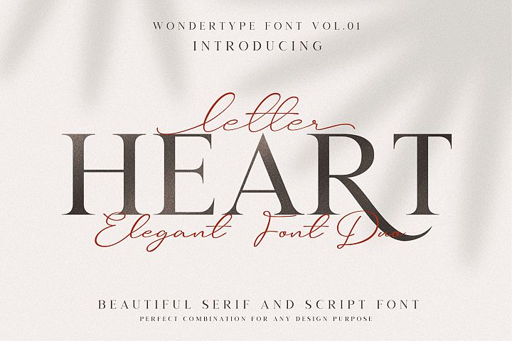Letter Heart Font Duo