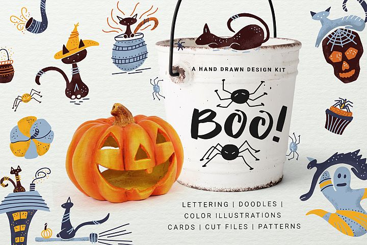 BOO! - Halloween design kit