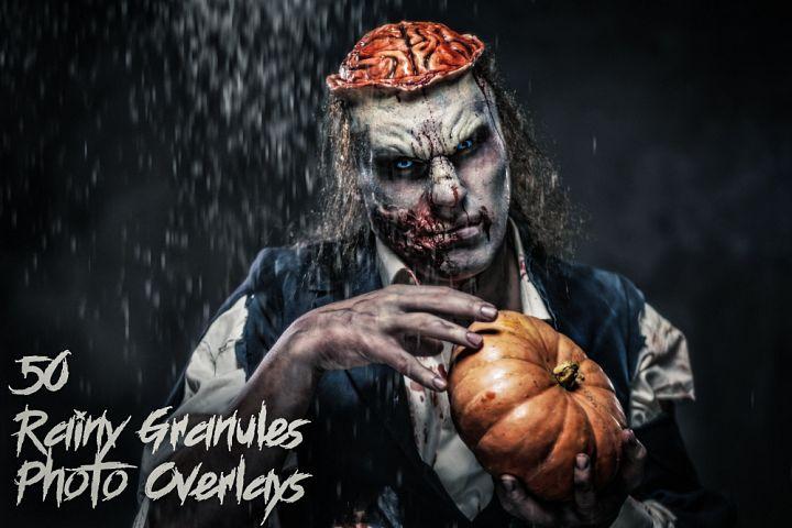 50 Rainy Granules Photo Overlays