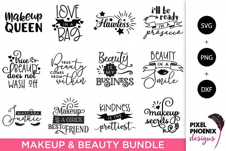 Makeup and Beauty SVG Bundle - 12 Files