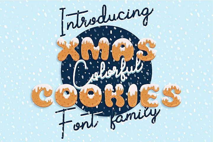 Xmas cartoon cookie font family