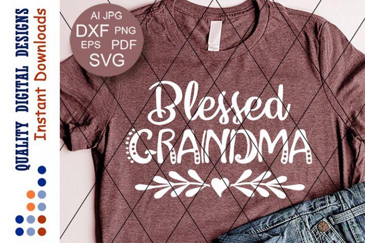 Blessed Grandma Svg Heart clipart Thanksgiving shirt