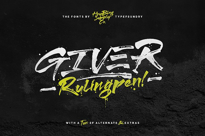 Giver Font & Extras