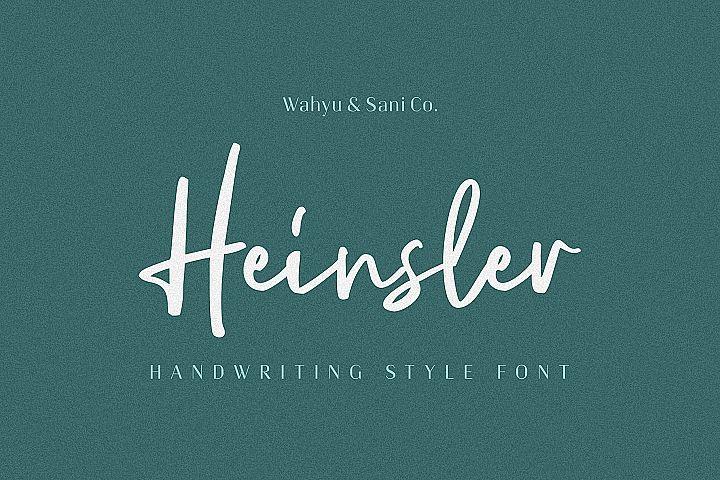 Heinsler   Handwriting Style Font