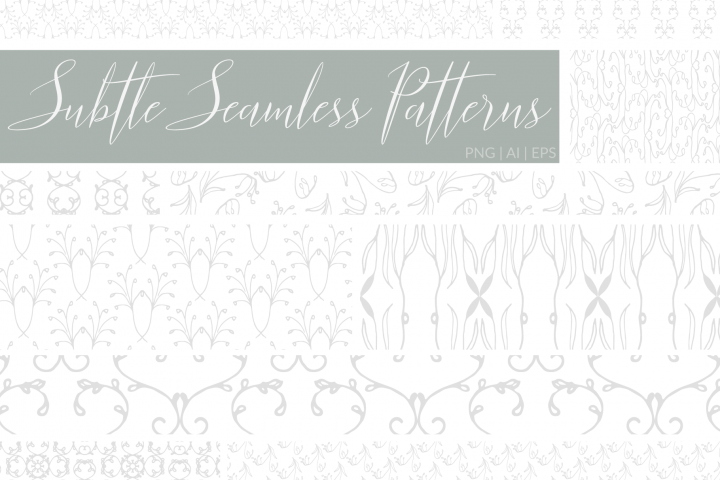 Subtle Seamless Patterns in PNG & Vector