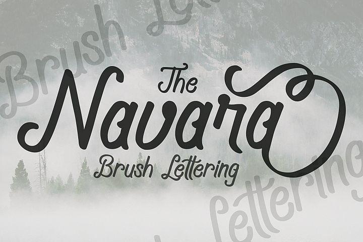 Navara Brush Font