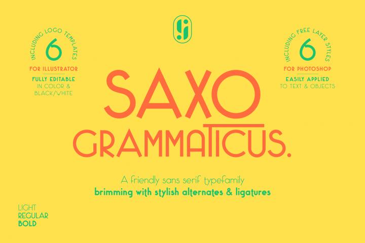 Saxo Grammaticus Sans Serif Font & Extras