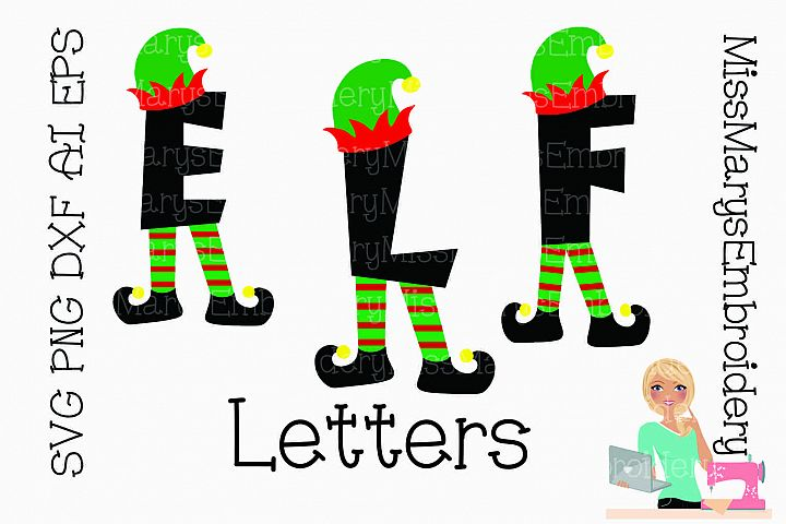 Elf Letters SVG Cutting File