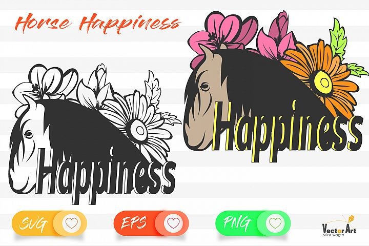 Horse Happiness - Cut File 2 Versions