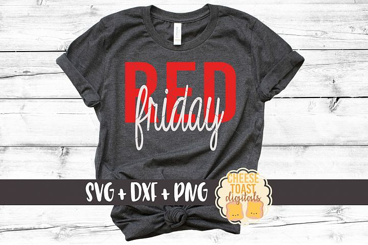 Red Friday SVG PNG DXF Cutting Files