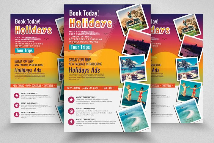 Tour & Holidays Flyer Template
