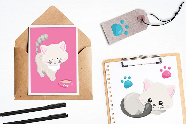 Adorable Kitties graphics and illustrations - Free Design of The Week Design2