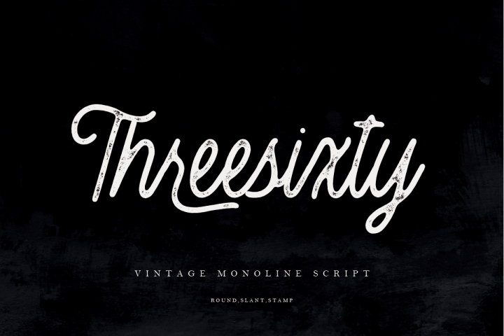 30OFF | Threesixty Vintage Monoline Script