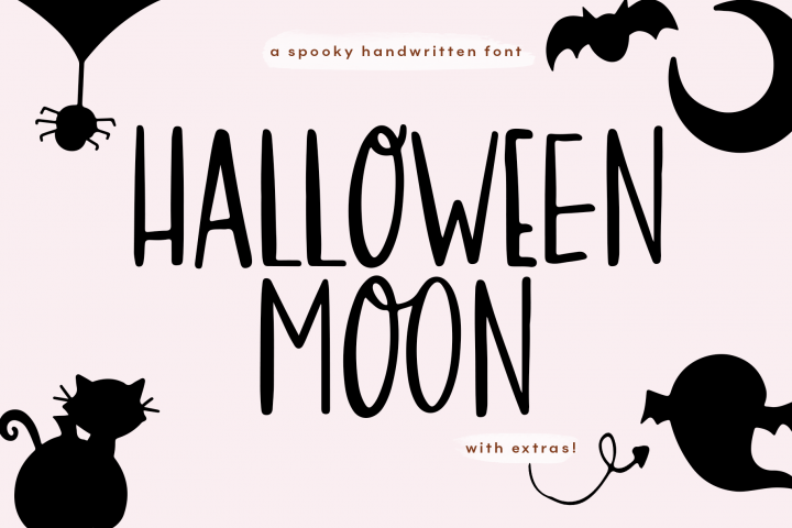 Halloween Moon - A Halloween Font with Extras!