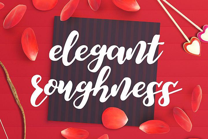 Elegant Roughness Font
