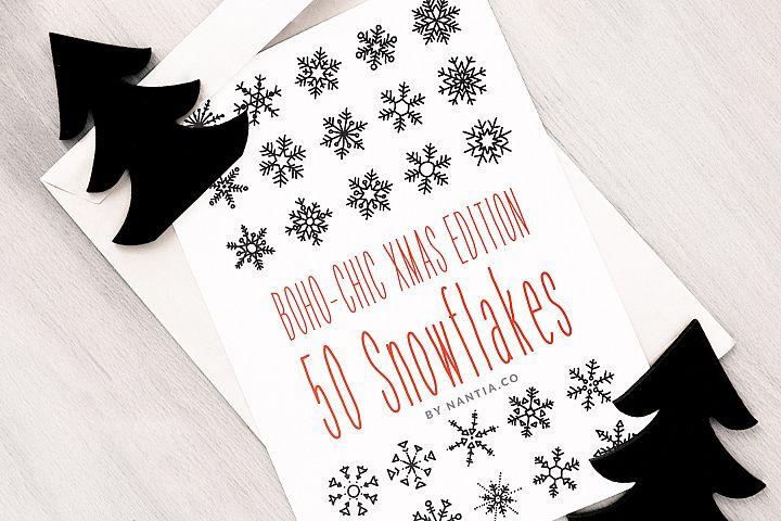 Boho-Chic Xmas Edition 50 Snowflakes