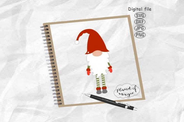 Gnome Svg, Christmas Gnome Svg, Cute Gnome Svg,Christmas Svg