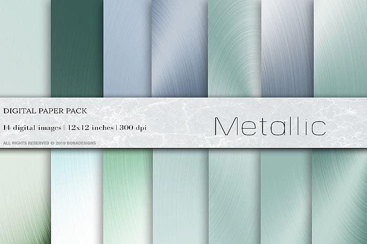 Metallic Digital Paper, Foil Background