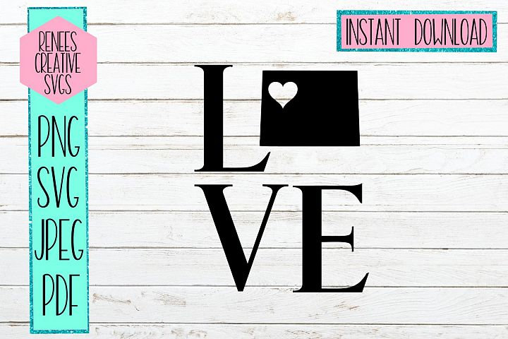Colorado love with heart | State SVG | SVG Cutting file