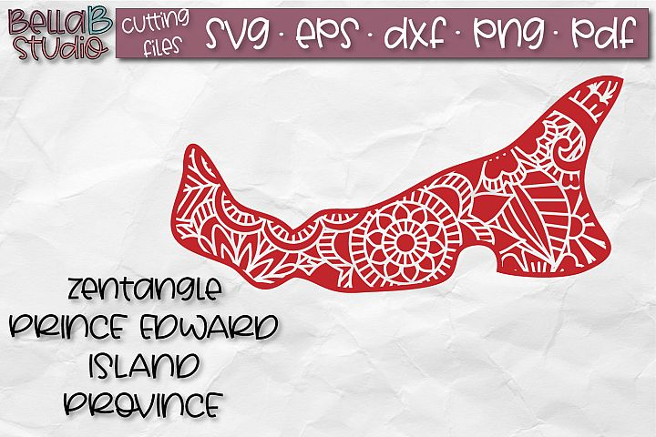 Zentangle SVG, Prince Edward Island SVG, Canada SVG-Canadian