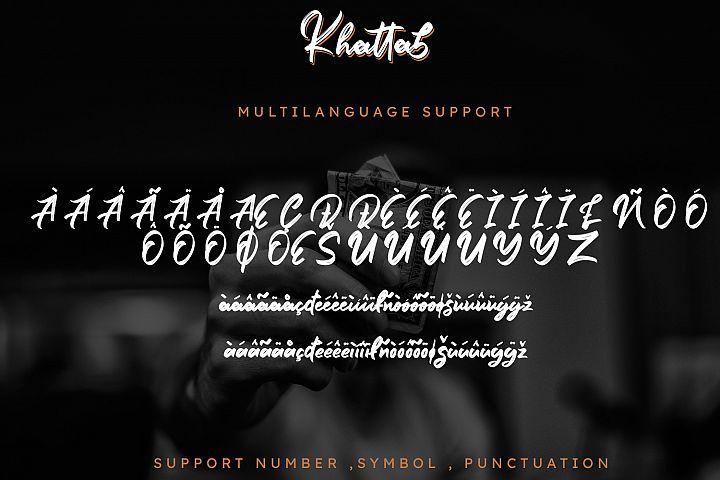 Khattab Brush Font example image 10