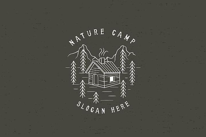 NATURE CAMP -  Logo Template