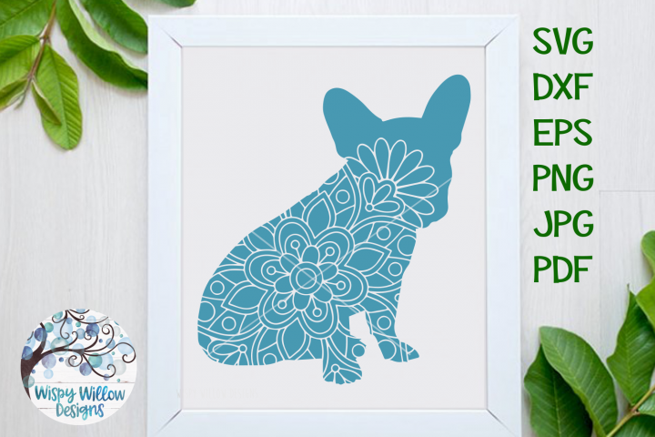 French Bulldog Dog Mandala| Animal Mandala SVG