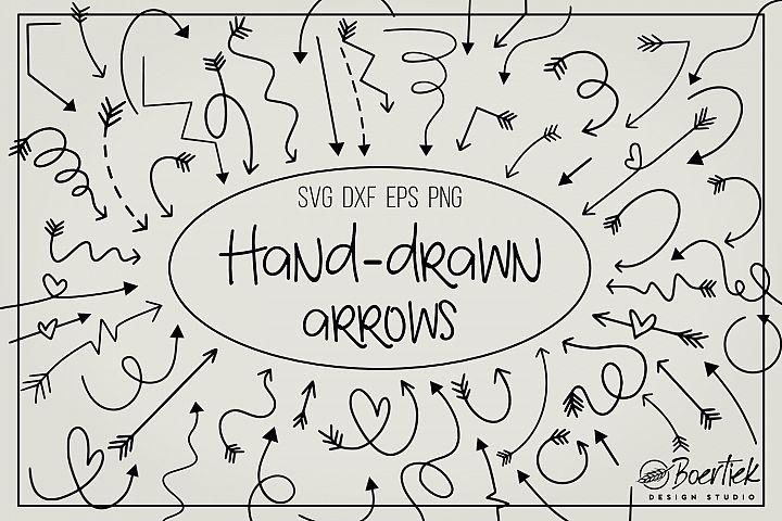 Hand drawn arrows bundle